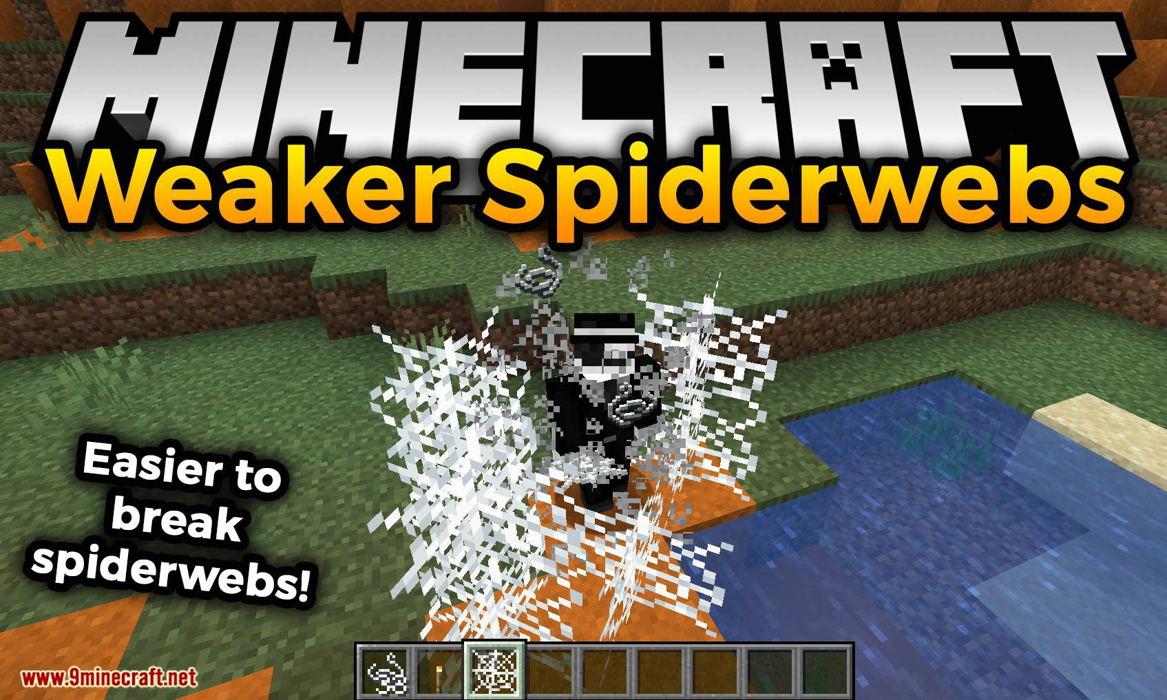 Weaker Spiderwebs mod for minecraft logo