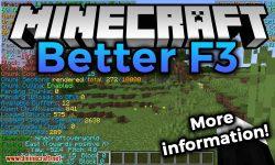 BetterF3 mod for minecraft logo