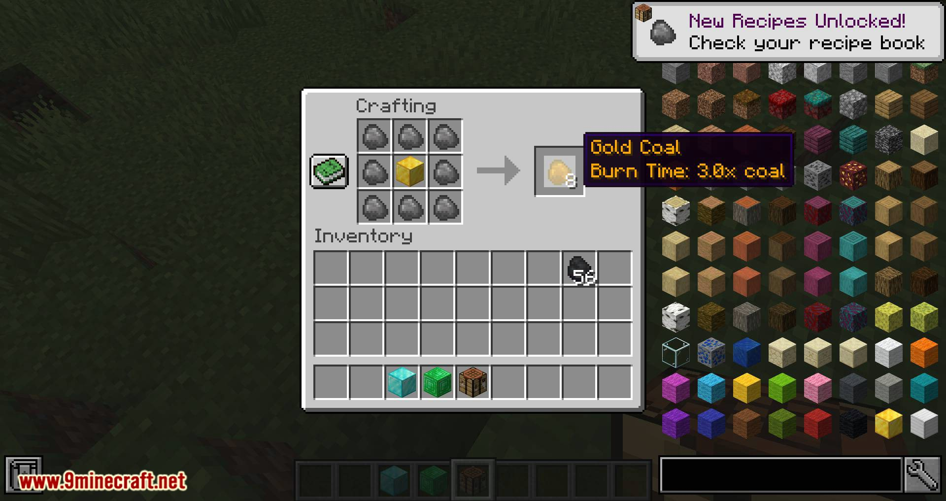 Iron Coals mod for minecraft 03