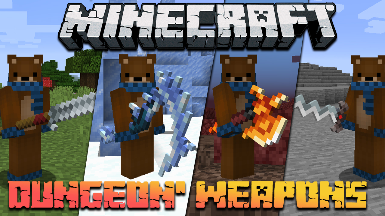 MC Dungeons Weapons Mod