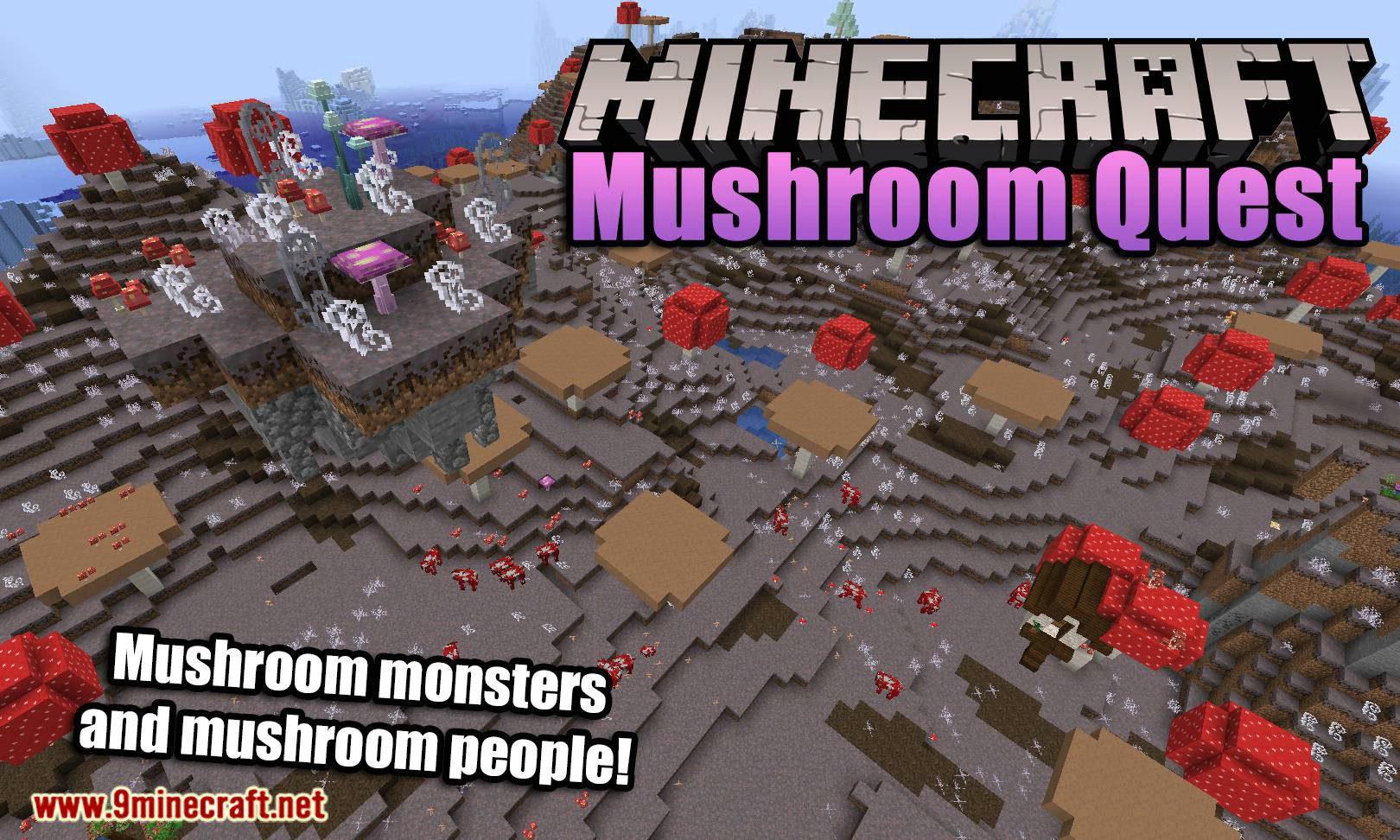 Mushroom Quest mod for minecraft logo