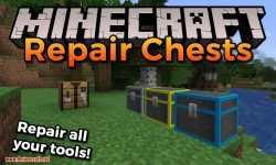 Repair Chests mod for Minecraft logo