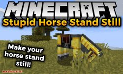Stupid Horse Stand Still mod for minecraft logo