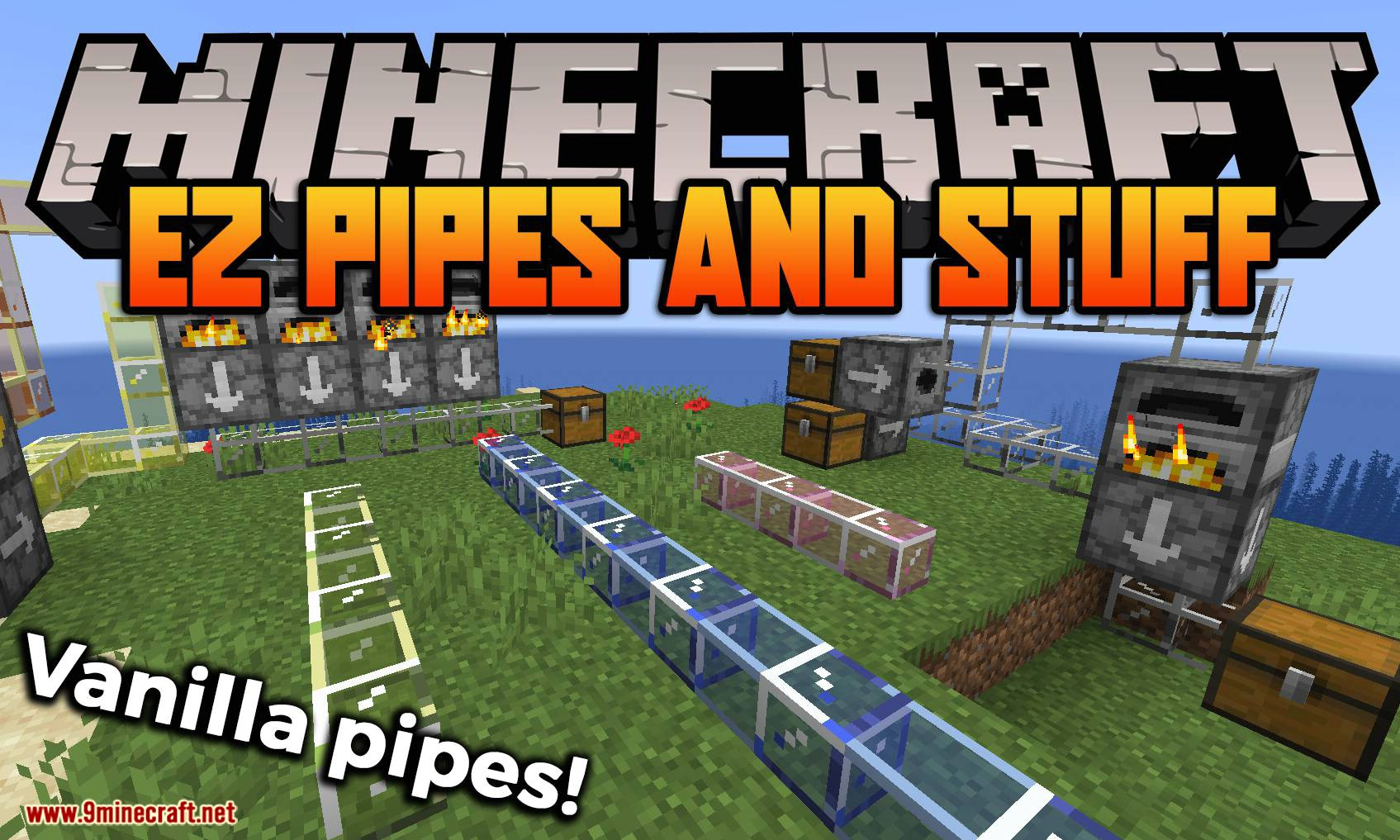 EZ Pipes and Stuff mod for minecraft logo
