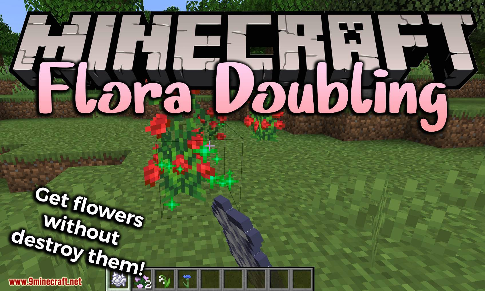 Flora Doubling mod for minecraft logo