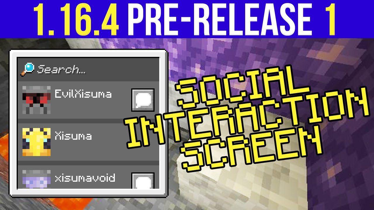 Minecraft 1.16.4 Pre-Release 1