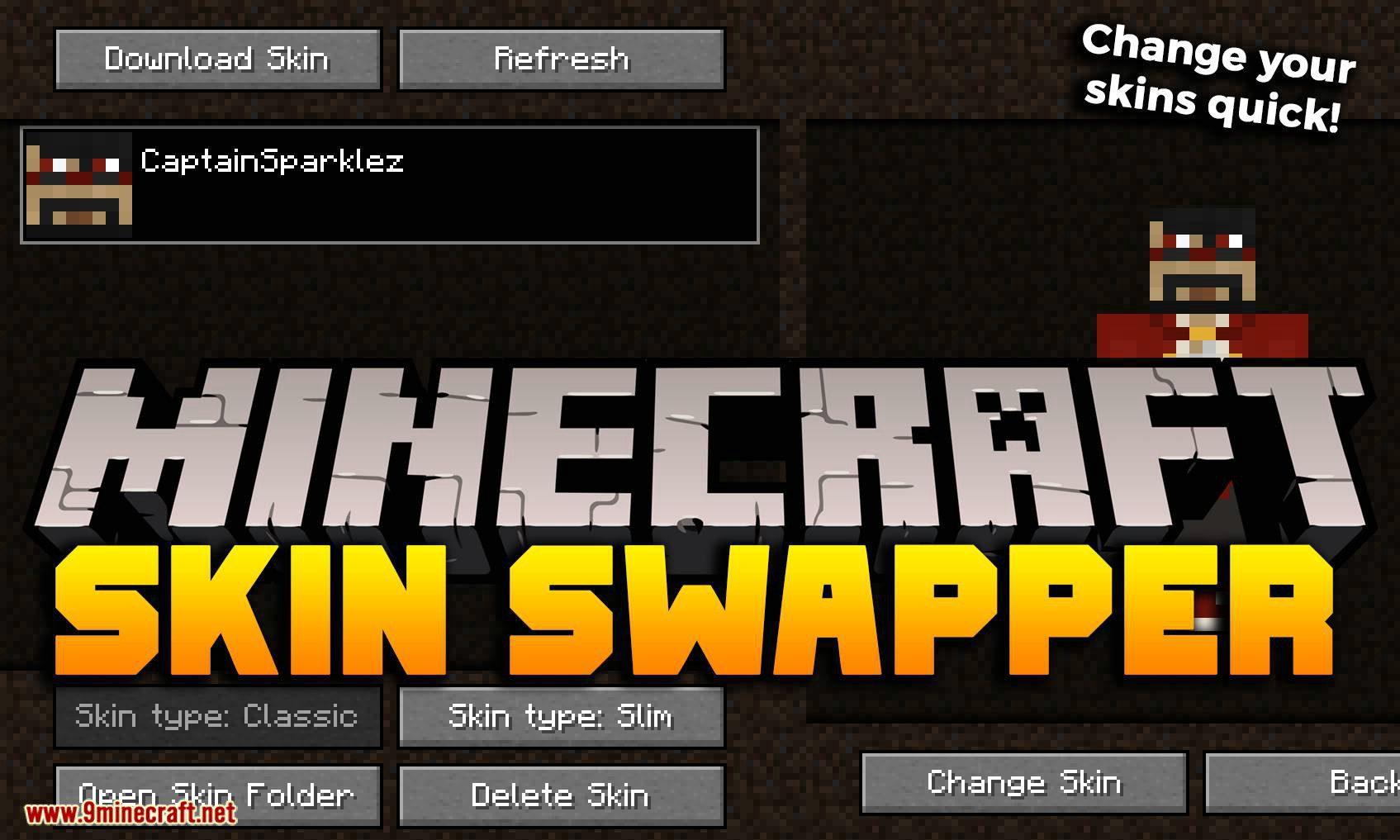 Skin Swapper mod for minecraft logo