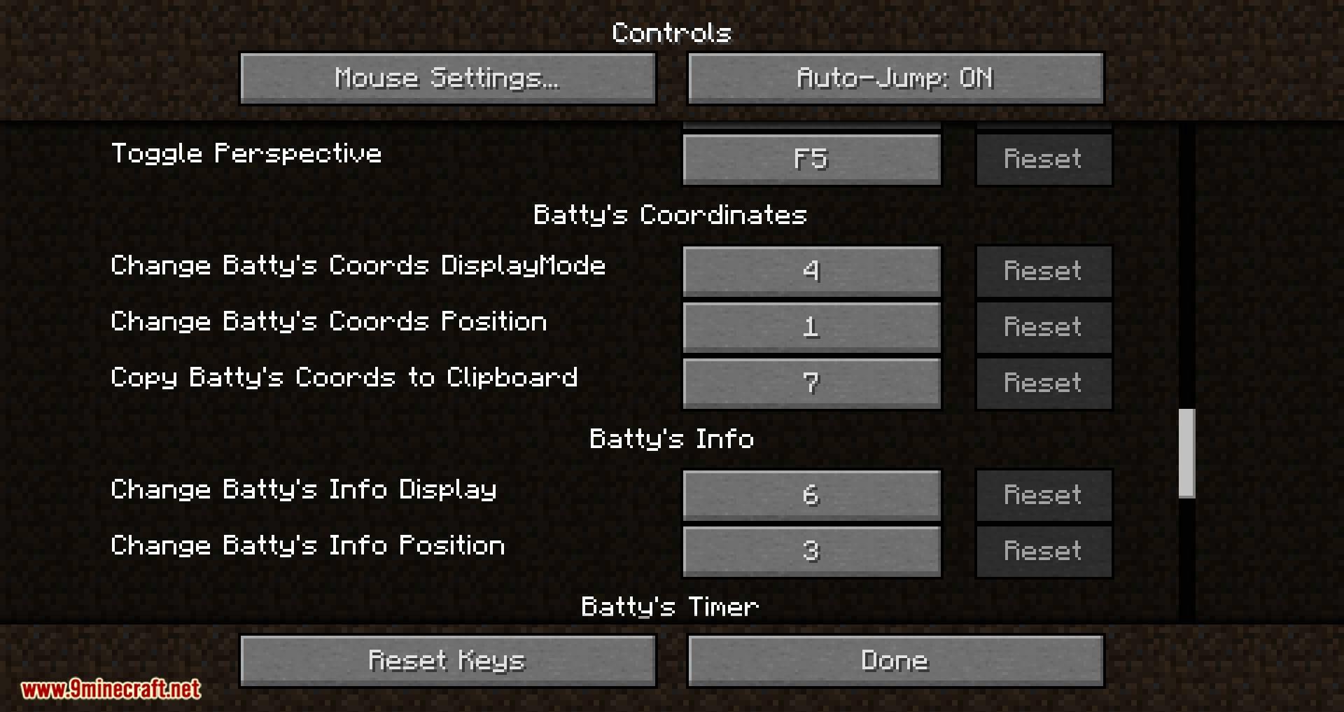 Batty_s Coordinates PLUS mod for minecraft 05