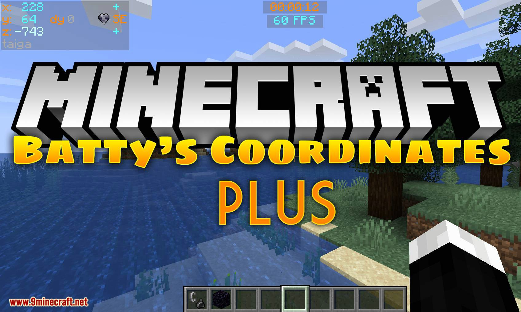 Batty_s Coordinates PLUS mod for minecraft logo