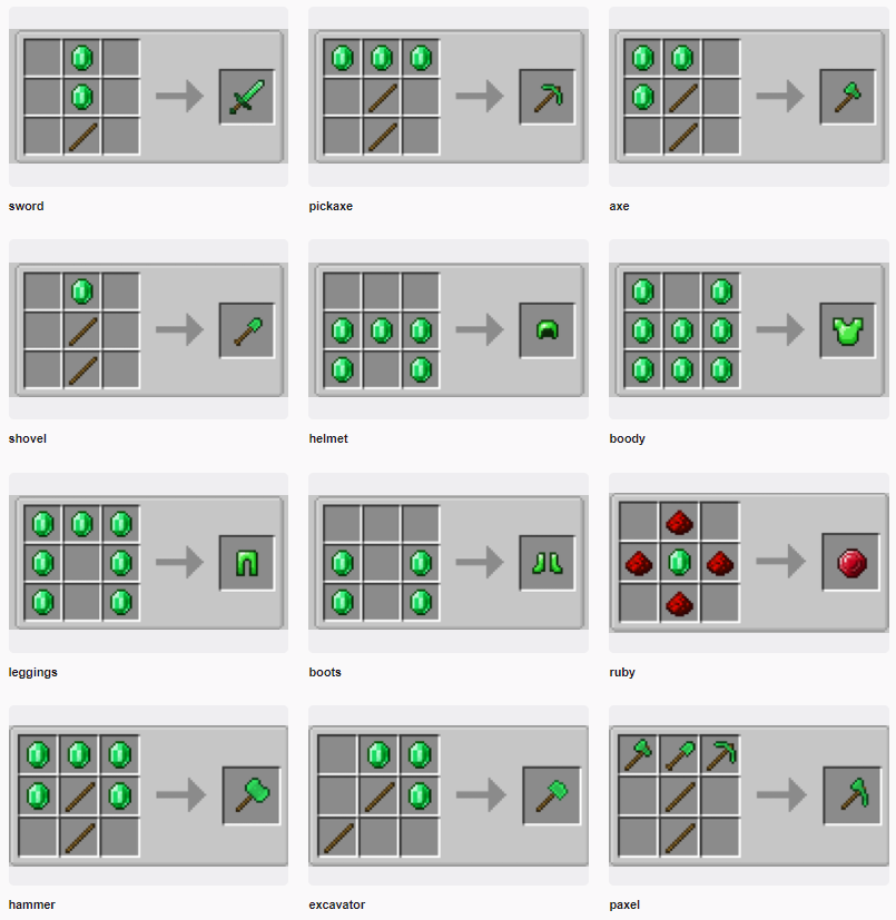 Easy Emerald Tools _ More mod for minecraft 23