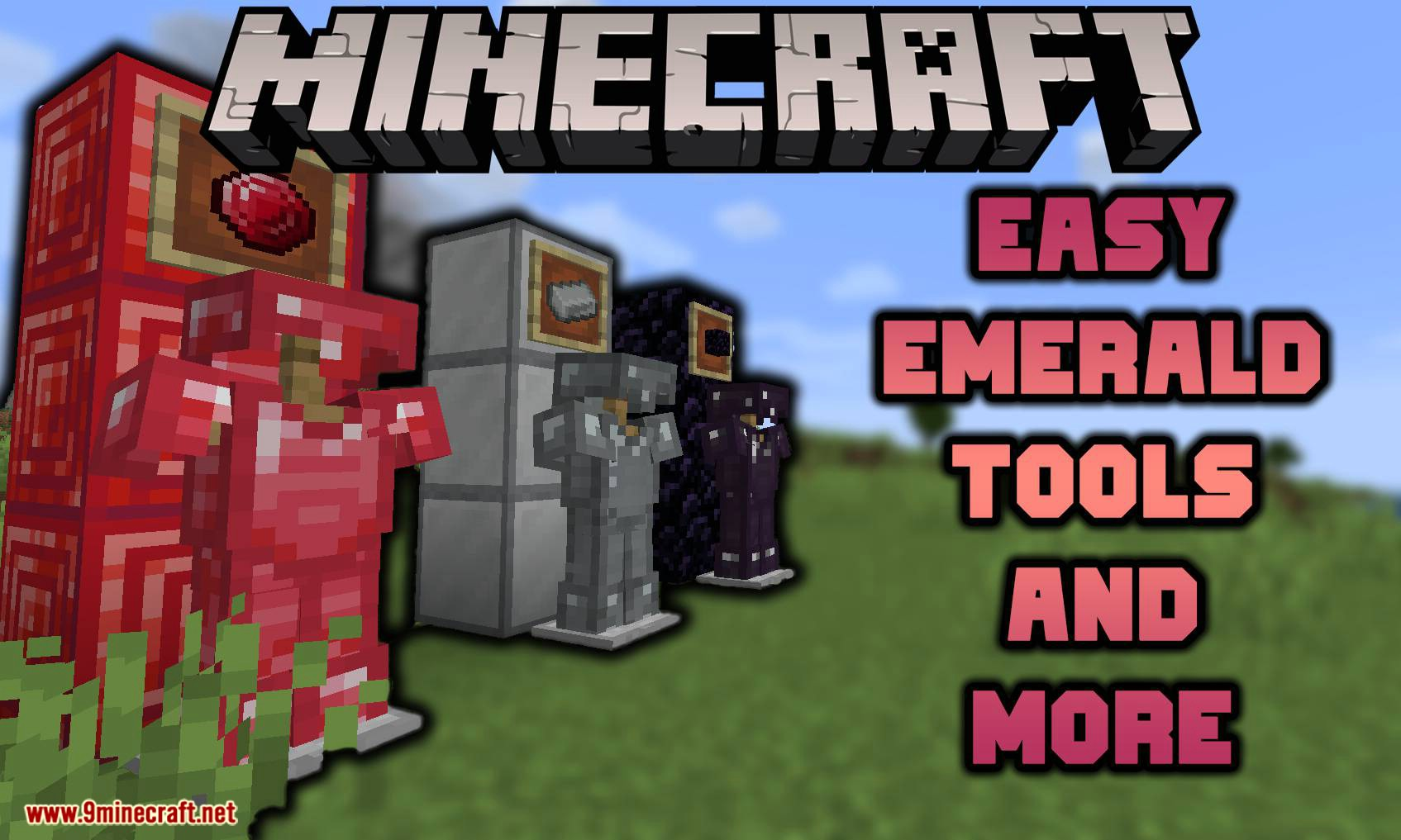 Easy Emerald Tools _ More Farbic mod for minecraft logo
