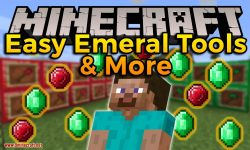 Easy Emerald Tools _ More mod for minecraft logo