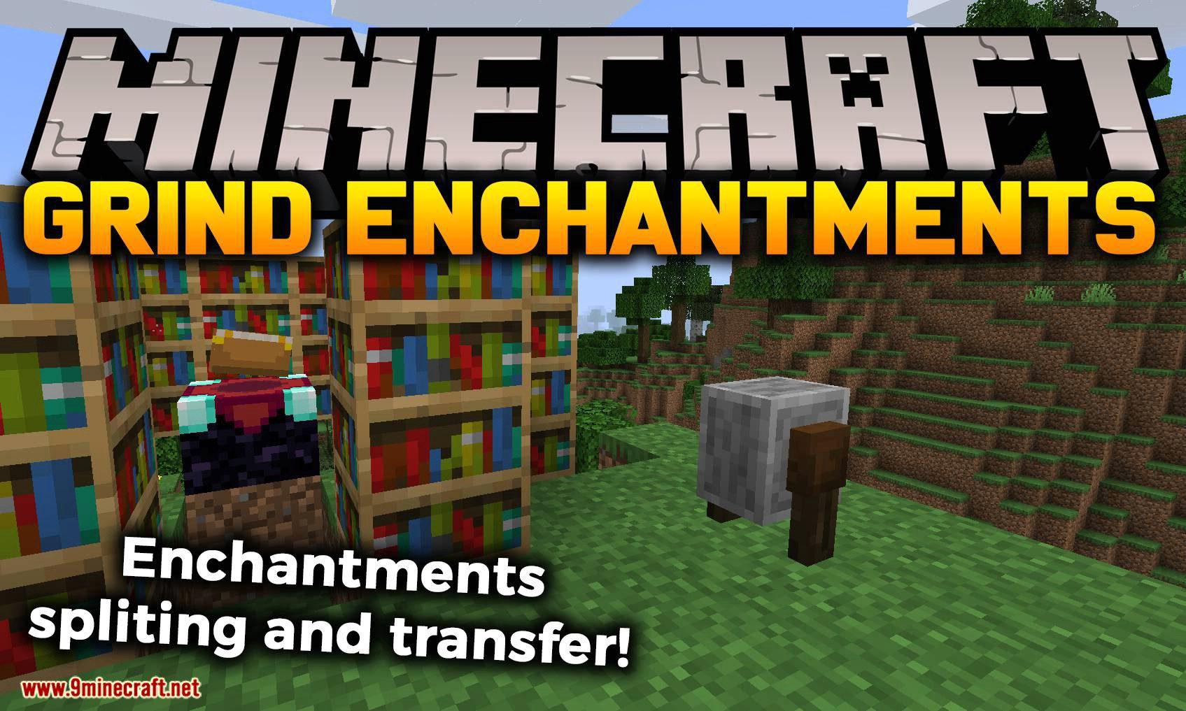 Grind Enchantments mod for minecraft logo