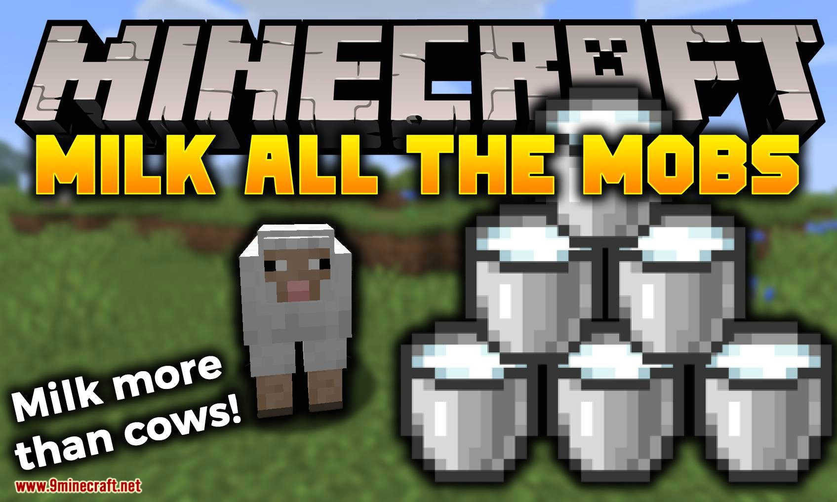 Milk All The Mobs mod for minecraft logo