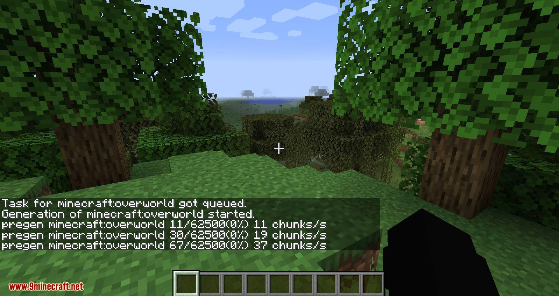 World Pre Generator mod for minecraft 03