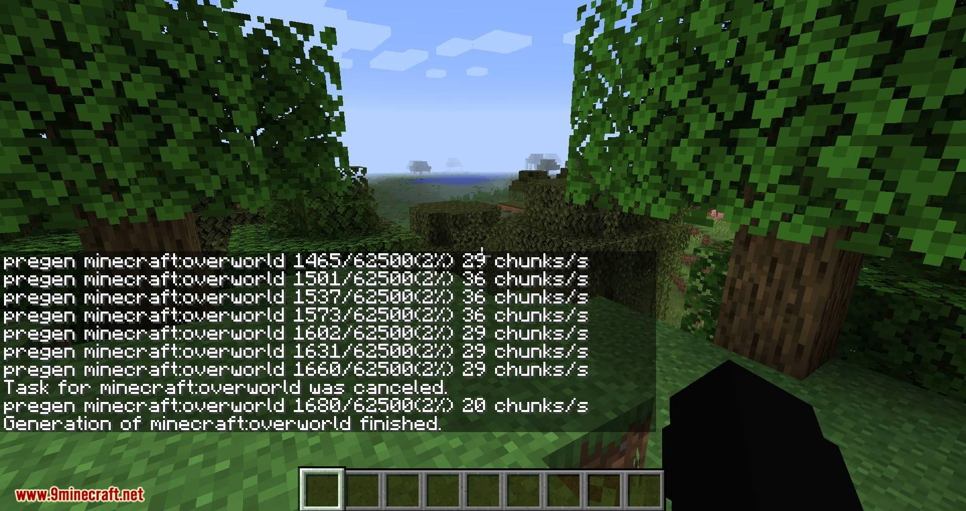 World Pre Generator mod for minecraft 05