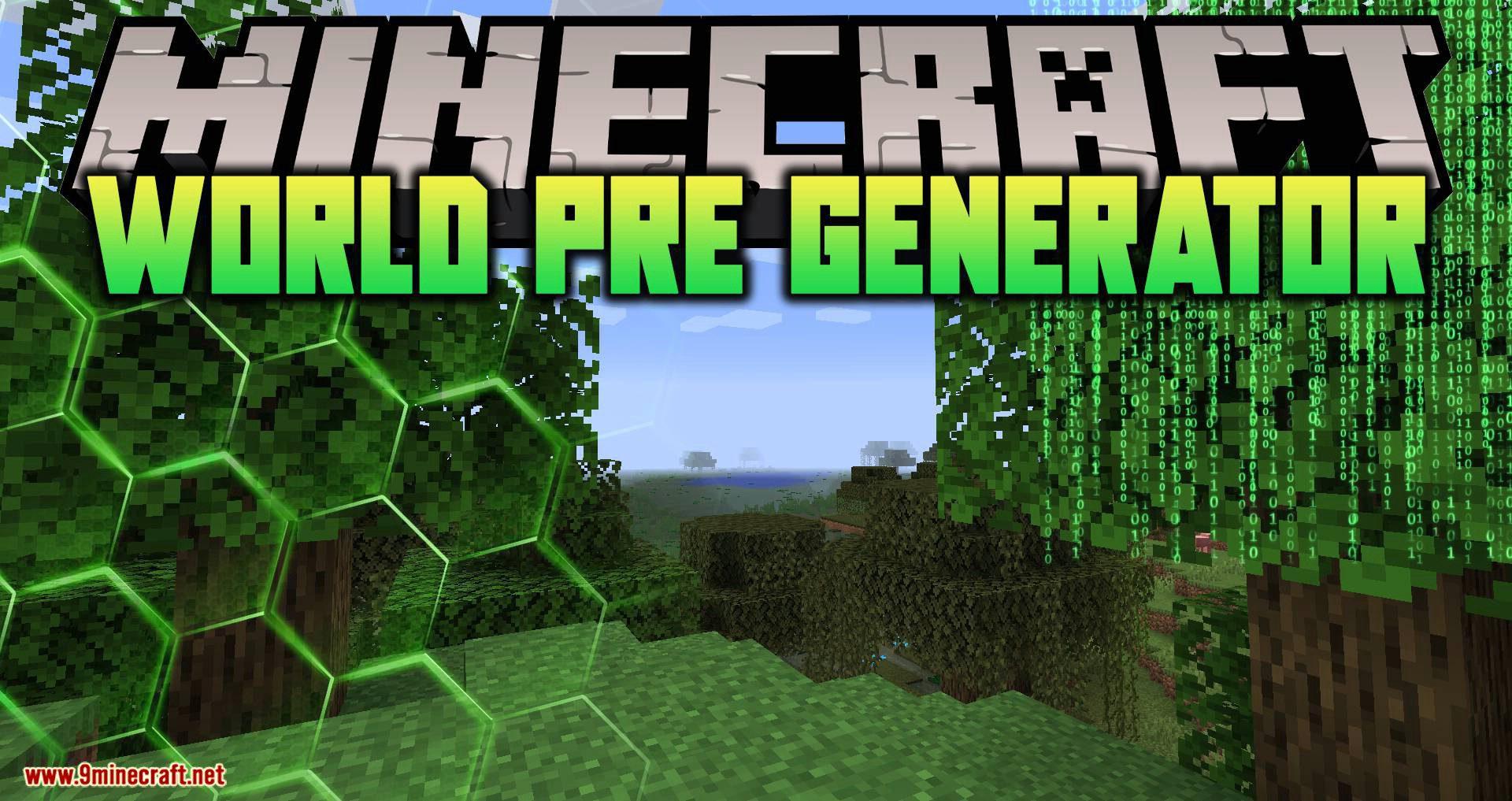 World Pre Generator mod for minecraft logo