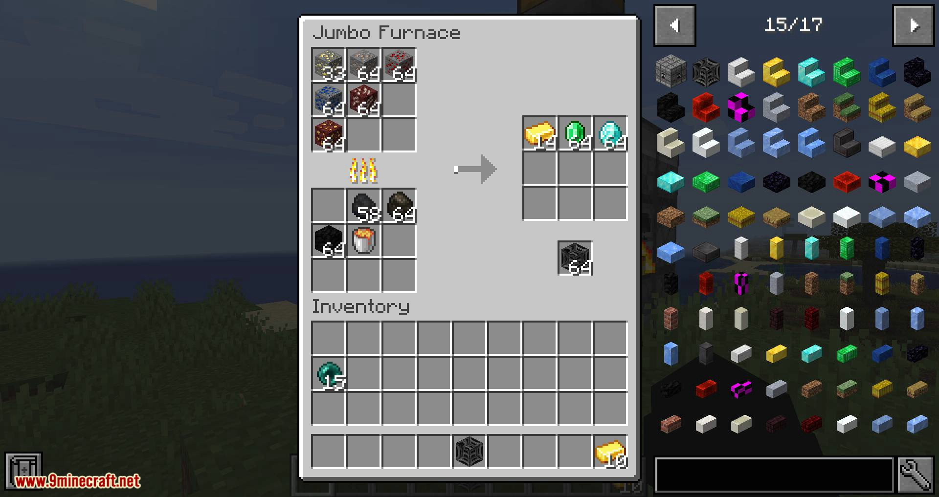 Jumbo Furnace mod for minecraft 15