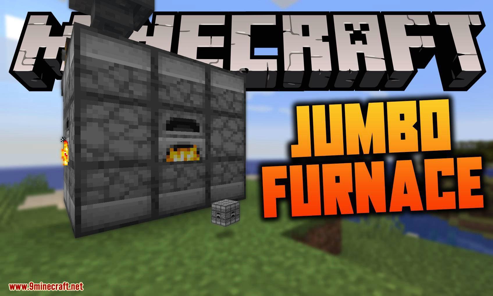 Jumbo Furnace mod for minecraft logo