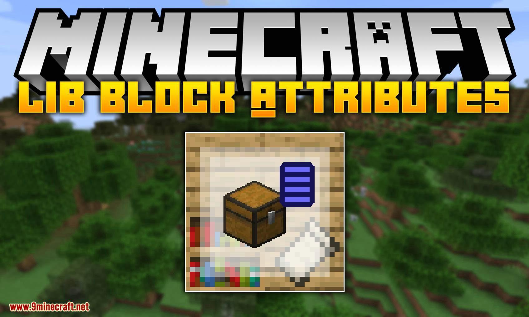 Lib Block Attributes mod for minecraft logo