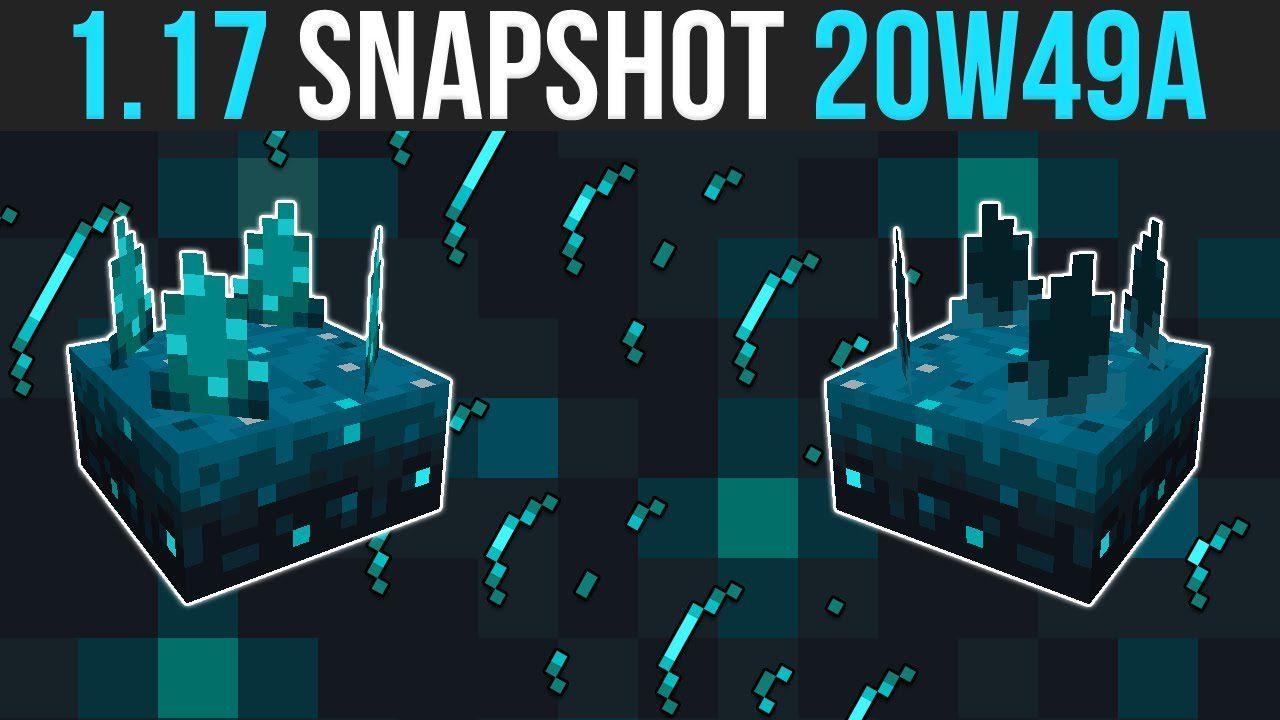 Minecraft 1.17 Snapshot 20w49a