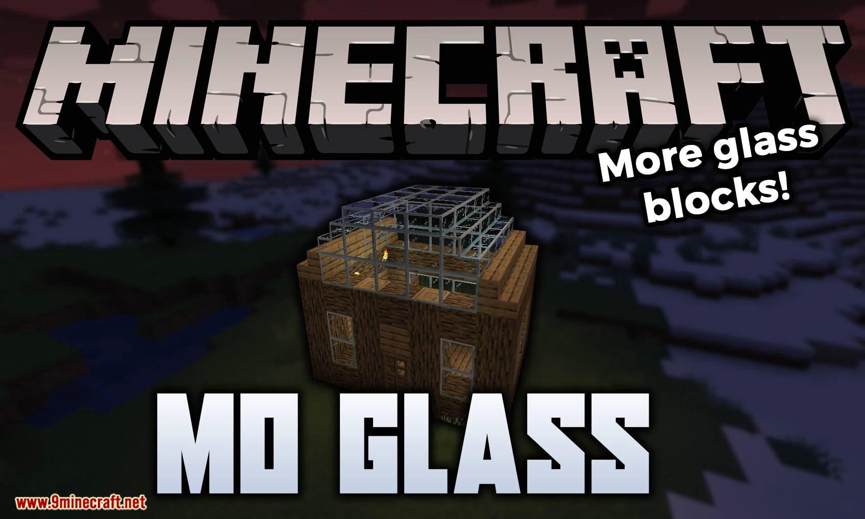 Mo Glass mod for minecraft logo