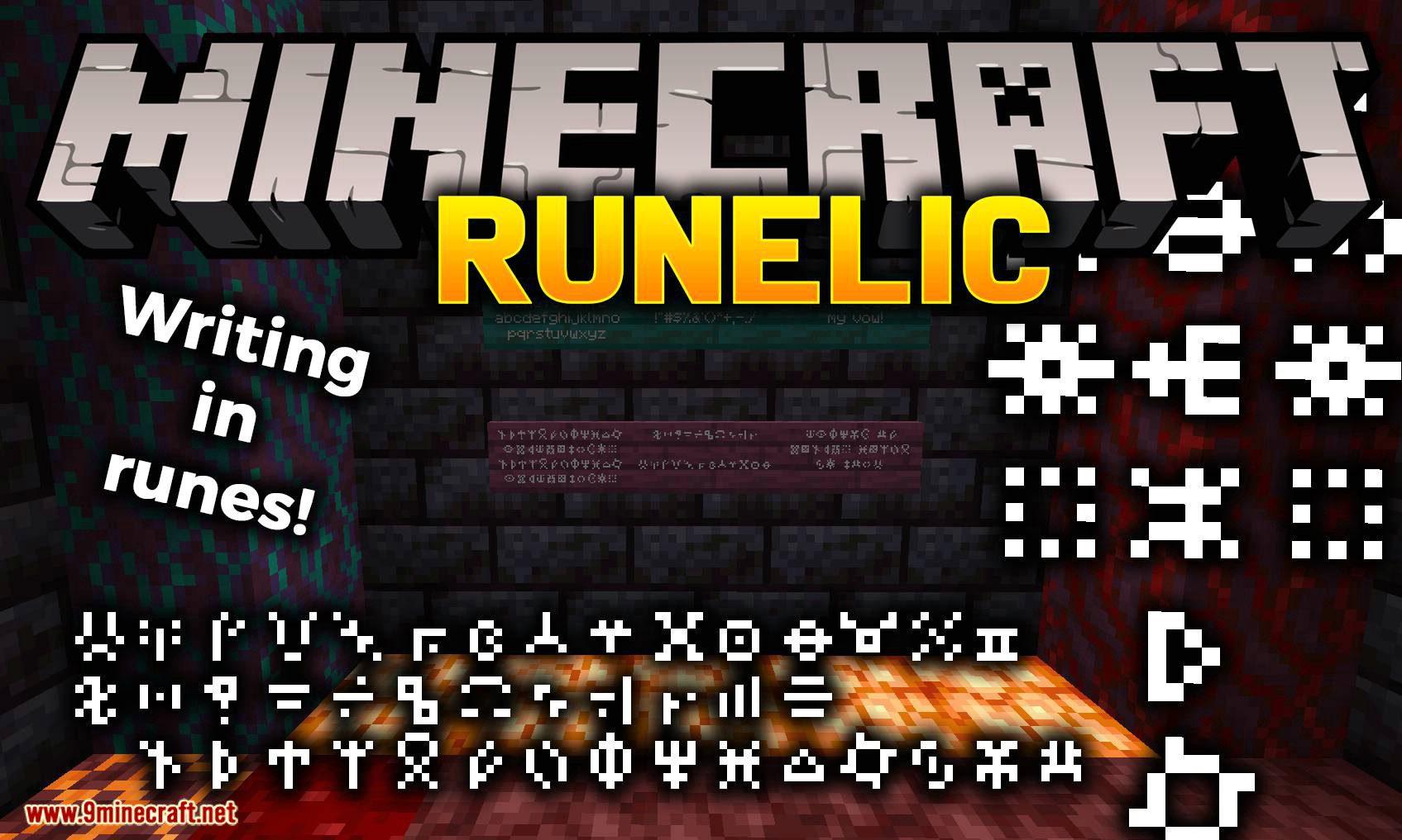 Runelic mod for minecraft logo