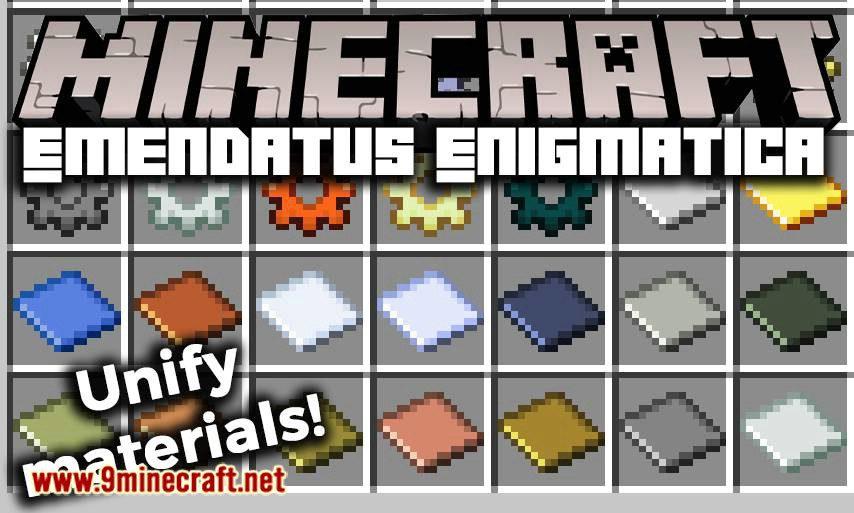Emendatus Enigmatica mod for minecraft logo