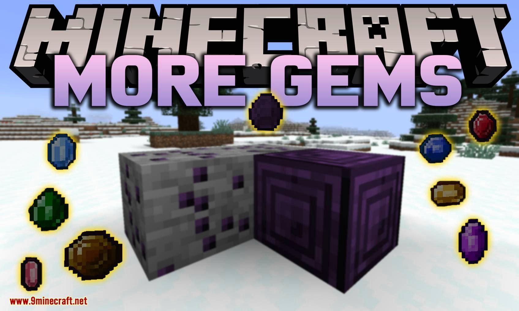 More Gems mod for minecraft logo