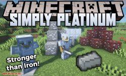 Simply Platinum mod for minecraft logo