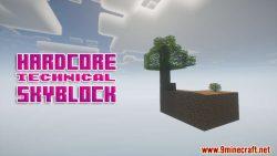 Hardcore Technical Skyblock Map Thumbnail