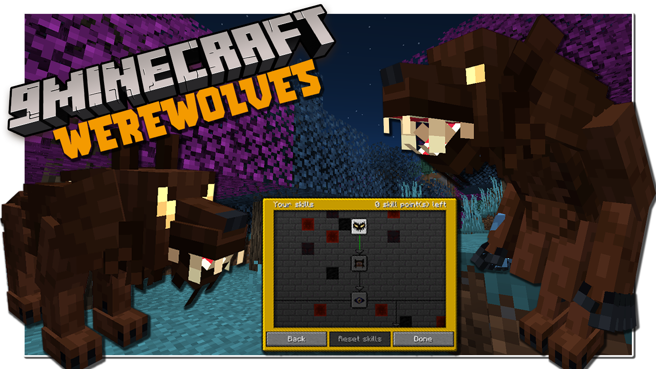 Werewolves Mod 1.16.5 (Transformation, Addon)