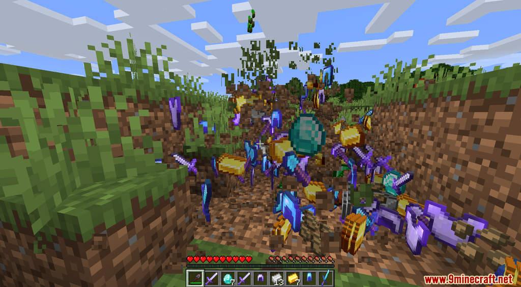 Minecraft But Dirt Drops OP Loot Data Pack Screenshots (7)