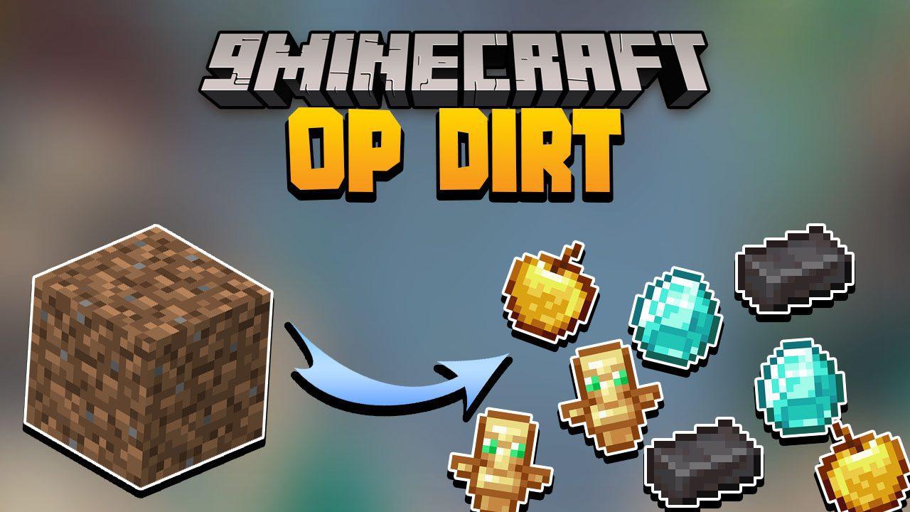 Minecraft But Dirt Drops OP Loot Data Pack Thumbnail