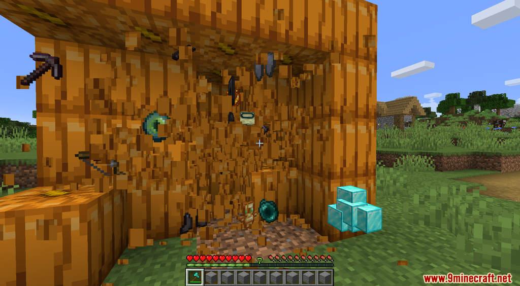 Minecraft But Pumpkin Drops OP Items Data Pack Screenshots (6)