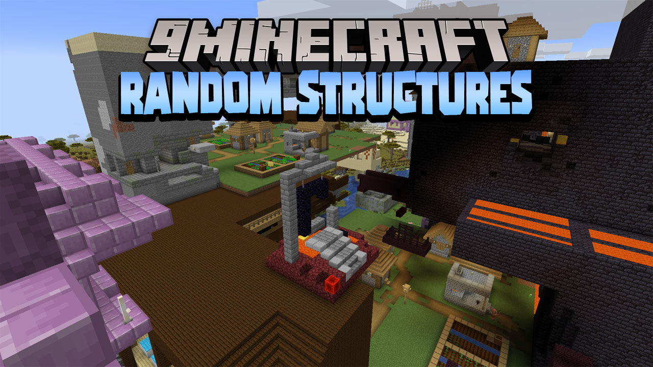 Minecraft But Random Structures Spawn Every Minute Data Pack Thumbnail