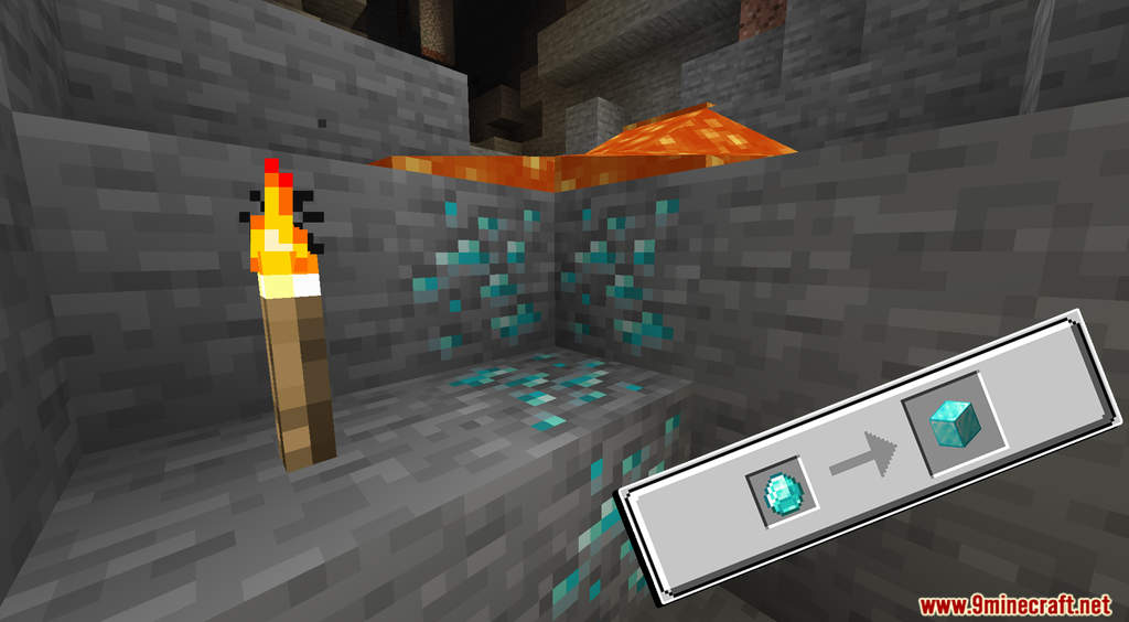 Minecraft But Cut Ores To Block Data Pack Screenshots (4)