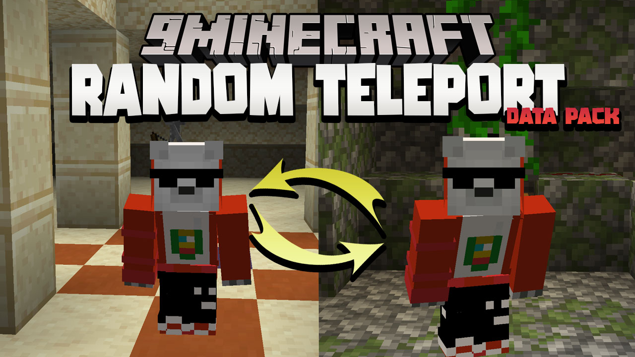 Minecraft But You Are Randomly Teleported Every 60 Seconds Data Pack Thumbnail