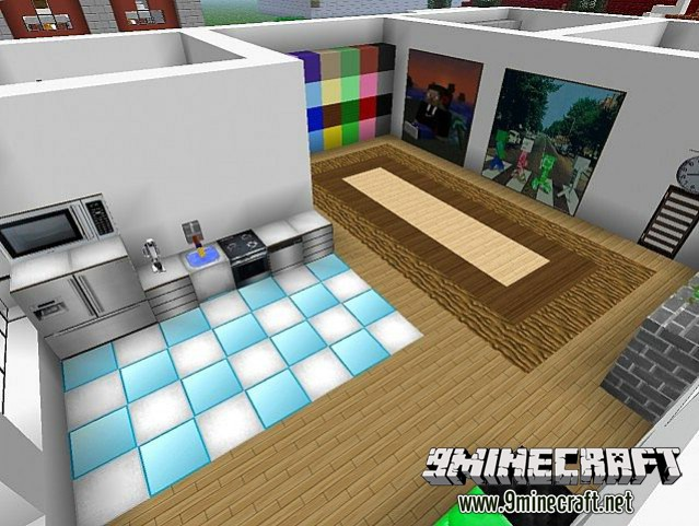minecraft living room furniture hokomoko s modern resource pack 1 8 7 1 8 minecraft 14414