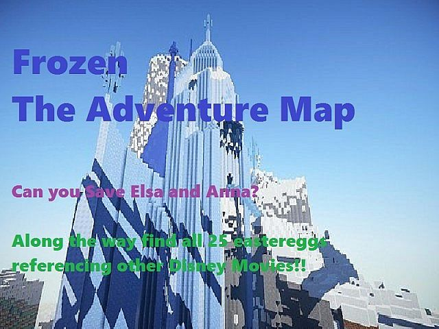 Disney Frozen Adventure Map MinecraftNet - Adventure maps fur minecraft