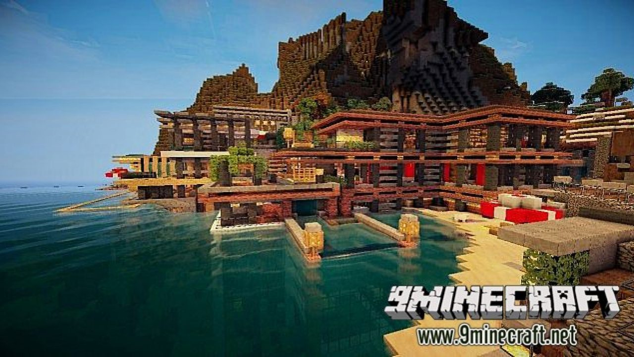 Luxurious Cove House Map 11221112 For Minecraft